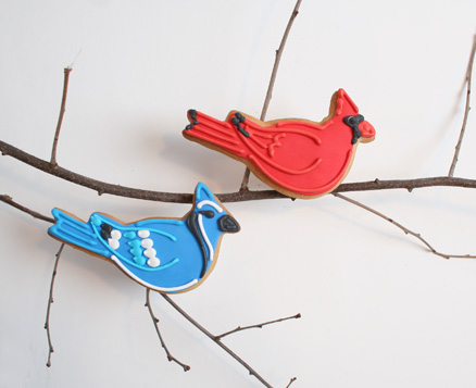 Cardinal and Blue Jay Favors