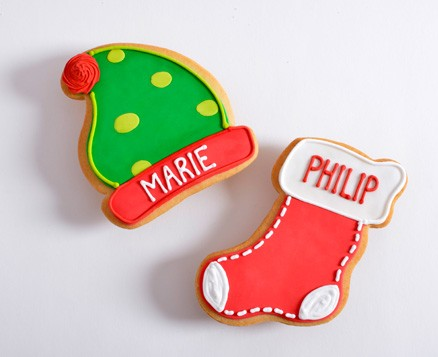 Personalized Stocking and Elf Hat Favors