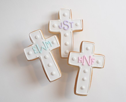 Monogrammed Cross Favors