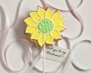 Favor:  Sunflower on a stick
