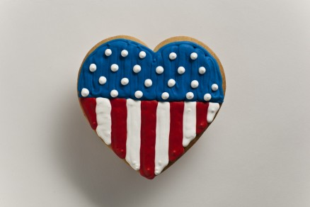 Flag Heart Favors