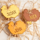Personalized Turkey Silhouette Favors